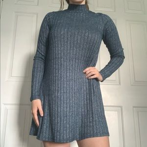 Mossimo Supply Co. Blue Knit Sweater Dress